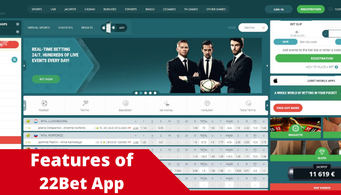 22 bet app review